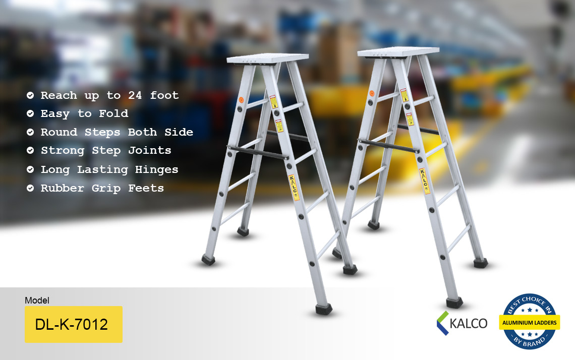 Self Supporting Stool Type Aluminium Ladder dl-k-7012