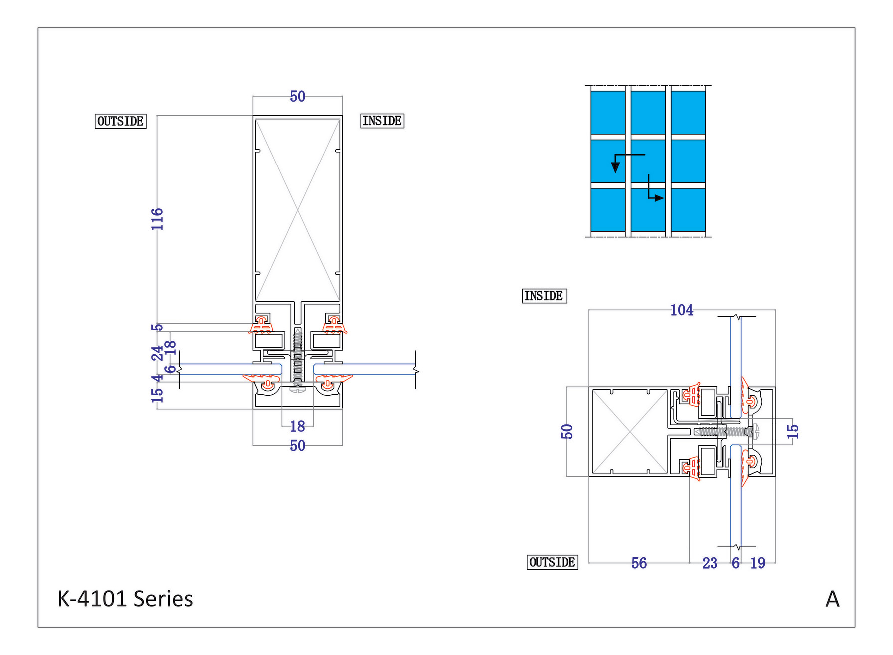 Kalco Alu Systems Kalco K 4101 A Semi Unitized Curtain