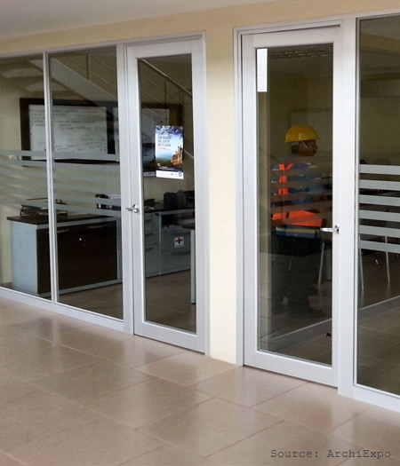 kalco_K-1102-B_aluminium_single_hinged_door_with_fixed_partitions